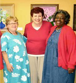 Sandy Wehle, Isabel Aarons, and Juneirene Bonds starting GIFT 2003